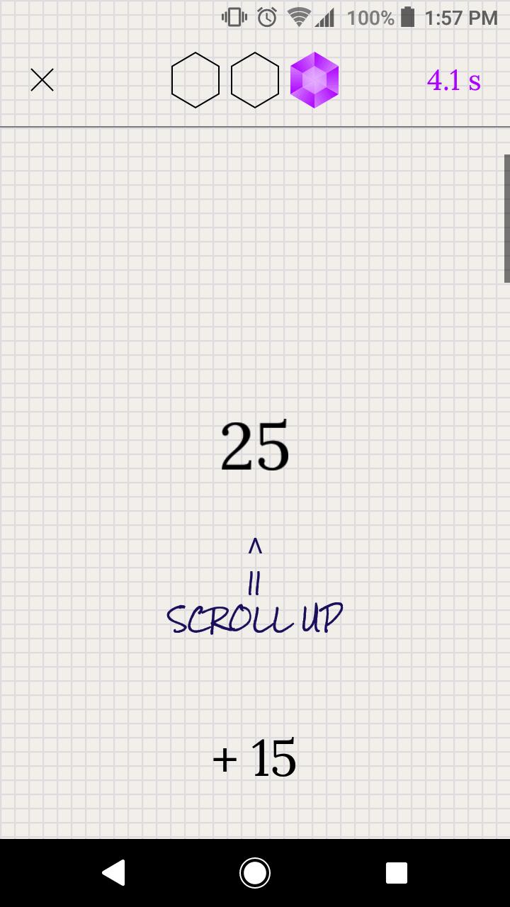 Spielverlauf in der Crystal Math App