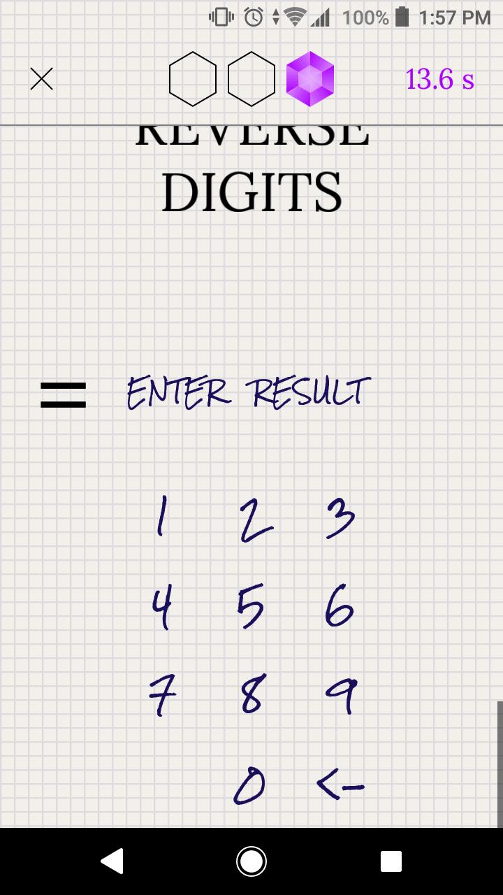 Ergebniseingabe in der Crystal Math App